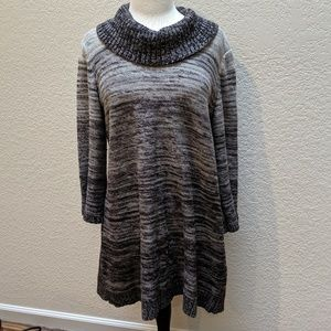 Style & Co. Cowl neck dress or tunic sweater. Sz L